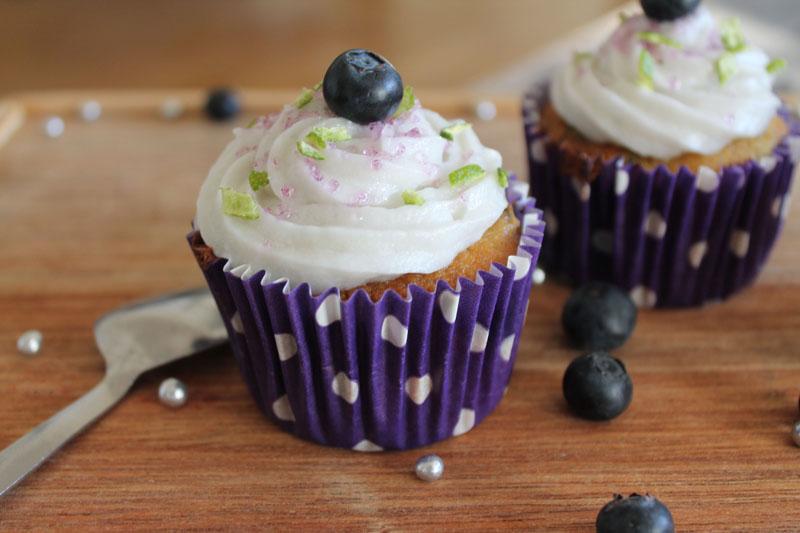 cupcake myrtilles et citron vert sans gluten ni lactose
