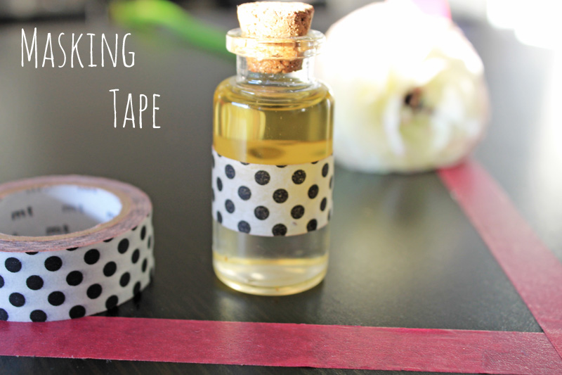 DIY flacon Masking tape