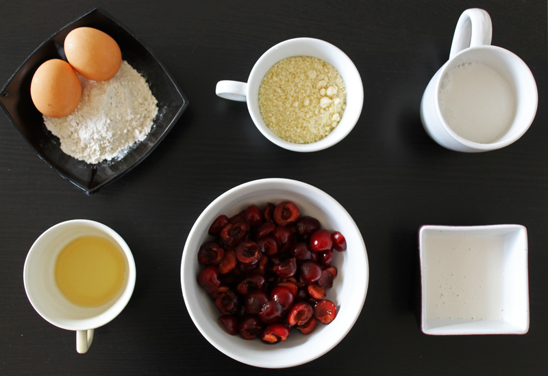 Ingrédients clafoutis sans gluten