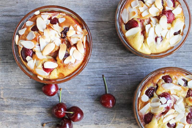 Clafoutis amandine aux cerises sans gluten et sans lactose