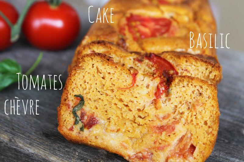 Cake gluten free Tomatoes, groat cheese an basil