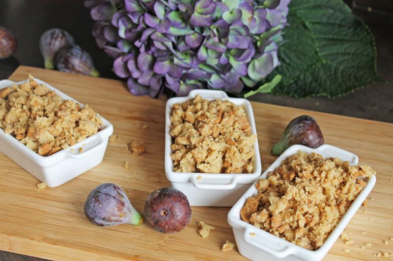 Crumble vegan sans gluten préparation