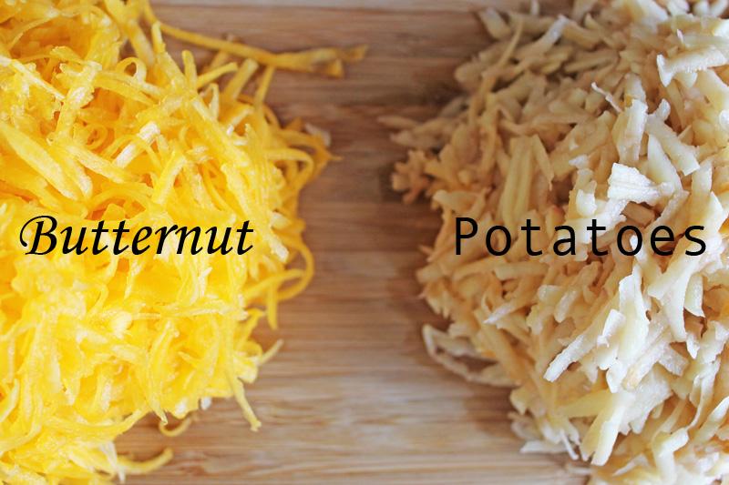 Galettes Butternut pommes de terre vegan
