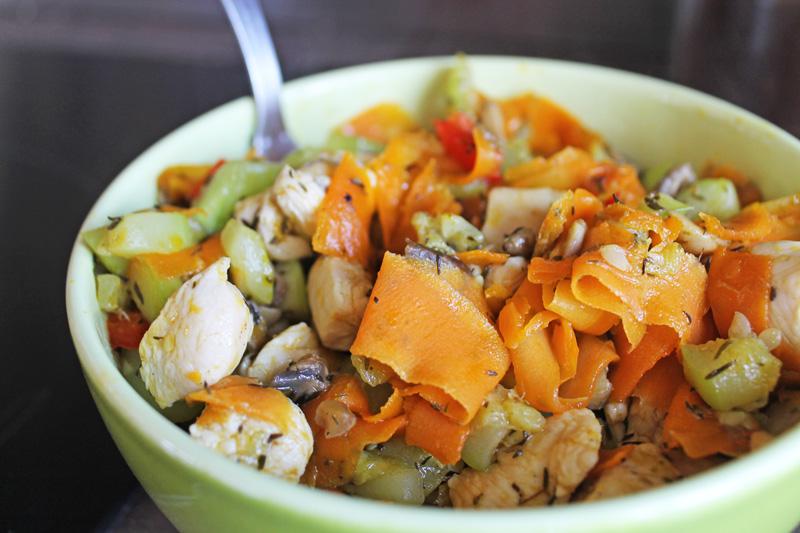 Légumes pour Wrap sans gluten