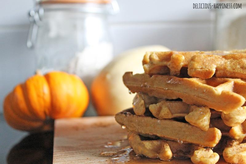 Vegan and gluten free butternut squash waffles