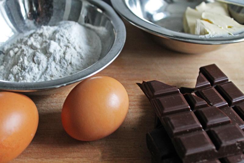 Fondant chocolat prépartion