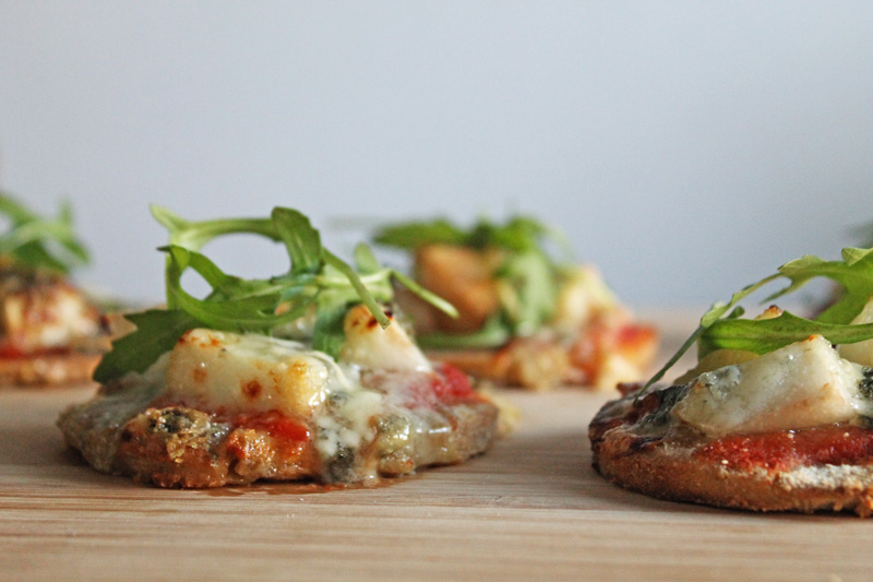 Gluten and dairy free mini pizza